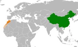 中国和摩洛哥在世界的位置