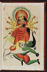 Kalighat pictures Indian gods f.12.jpg