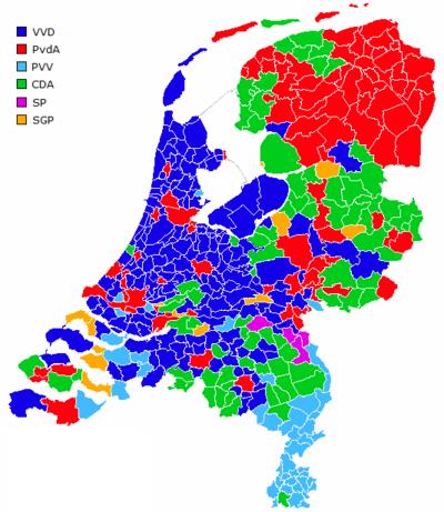 荷兰各地方最大市镇