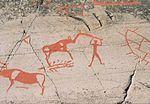 Alta petroglyphs depicting humans and animals