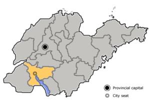 图中高亮显示的是济宁市