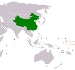 中国和基里巴斯 在世界的位置