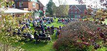 Darvell Bruderhof meeting outdoors
