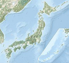 日本地图,标示弘前城的位置