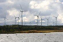 Rõuste wind turbines next to wetland