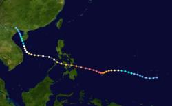 颱風麥克的路径图