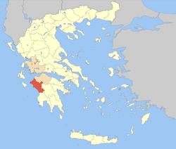 Elis within Greece
