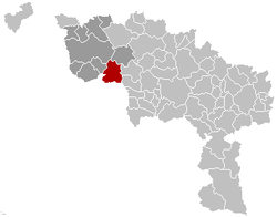 Péruwelz Hainaut Belgium Map.png