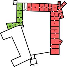 Wawel Castle, 1st floor.png