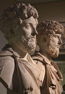Busts of Marcus Aurelius and his co-ruler Lucius Verus
