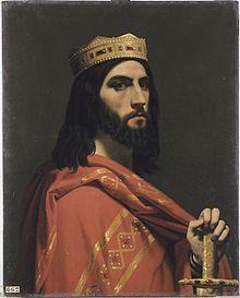 Emile Signol (1804-1892) - Dagobert Ier roi d'Austrasie de Neustrie et de Bourgogne (mort en 638).jpg