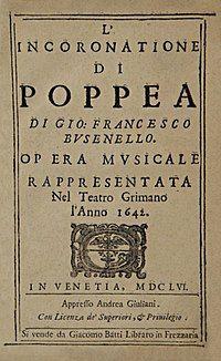 Title page of the 1656 libretto of L'incoronazione di Poppea.jpg