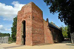 位于詹姆斯敦的建于1639年的教堂遗址