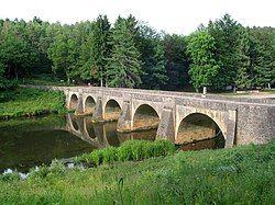 Chiny: St Nicholas's bridge on the River Semois