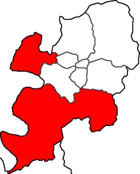 达城郡在大邱的位置