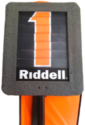 Photograph of a down indicator box on a pole