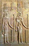 Cleopatra II and III Kom Ombo Temple.jpg