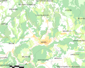 芒德市镇地图