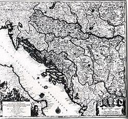 克罗地亚王国 的位置