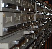 An analog catalog.