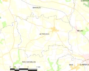 勒特雷武市镇地图