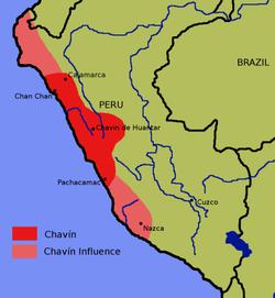 查文文化分布区域示意图
