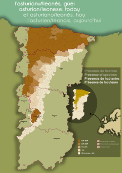 Another colour-coded map of north-western Spain