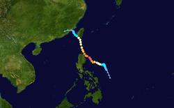 超强台风南玛都的路径图
