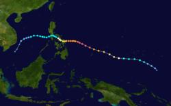 超强台风黑格比的路径图