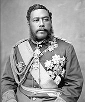 Hawaiian in military coat