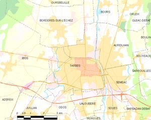 塔布市镇地图