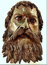 Bust head of Thracian king