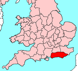 Ancient extent of Sussex