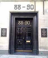 Double doors with 88–90 above them