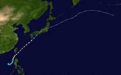 台风康森的路径图