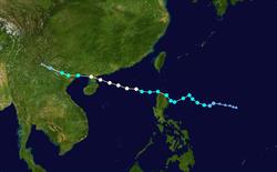 台风启德的路径图
