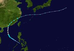 台风爱丽斯的路径图