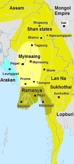 敏象王国疆域(约1310年)