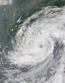 6月15日,即将登陆的热带风暴海贝思
