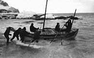 Launch of the James Caird lifeboat