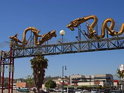 Chinatown Gateway Monument, marking the entrance to Los Angeles' Chinatown