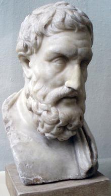 Sculpture of a face.