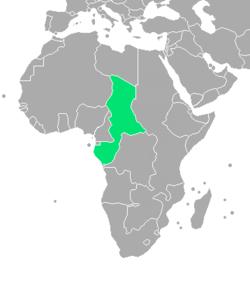 绿色的为法属赤道非洲
