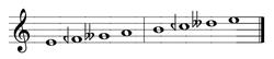 A complex music staff