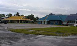 图瓦卢富纳富提环礁上的Maneapa和机场
