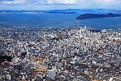 高松市市区与濑户内海