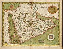 A detailed map of Palestine from the 17th century