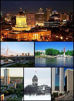 温尼伯景象: 市中心、温尼伯立法大楼、叉子河、伯蒂奇和缅因、理查德森大厦、伯蒂奇街201号、阿西尼伯公园的公寓、奥斯本村、雷尔步行桥