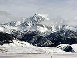冬季的博拉峰与迷河山岭