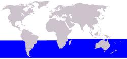 Cetacea range map Dwarf Minke Whale.png
